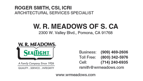 W. R. Meadows of S. CA